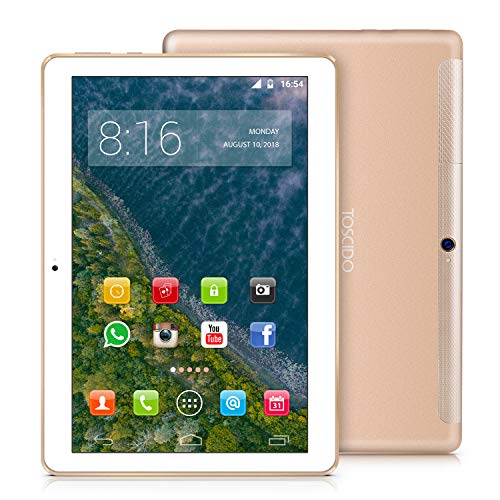 asus tablet 10 pollici 4g e wifi TOSCIDO 4G LTE Tablet 10 Pollici - Android 9.0 Certificato da Google GMS