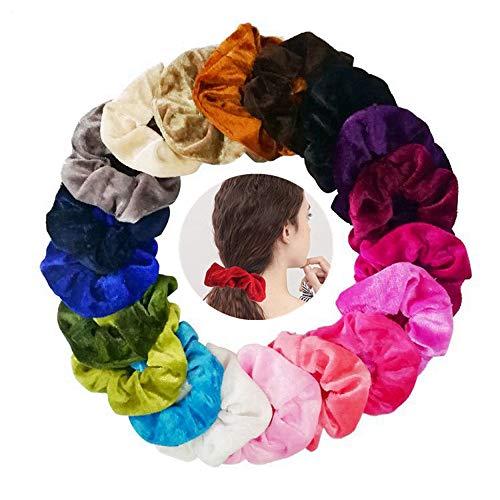 20 Pezzi elastici per capelli velluto Nastri elastico,elastico Velluto Scrunchies Accessori per Capelli per Donne o Ragazze ,20 Colori