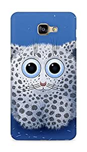 Amez designer printed 3d premium high quality back case cover for Samsung Galaxy A9 (Cute cat)