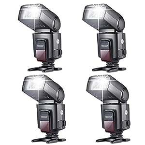 Neewer Quatre TT520 Flash pour Canon Nikon Sony Panasonic Olympus Fujifilm Pentax Sigma Minolta Leica et les Autres SLR et DSLR Film SLR Caméras et Appareil Photo Numérique avec Seul Contact Sabot
