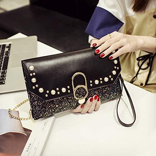 LFGCL Bags womenHand Bag Bankett Clutch aus wildem Temperament, schwarz