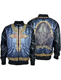 Men's Summer Light Wight Zipper Jackets Imitation Leather Long Sleeves