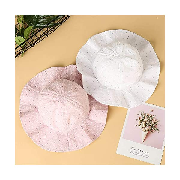 FANTESI de 2 Piezas Sombrero de Protección Solar para Bebé, UPF 50+ UV Ray Baby Summer Hat Sombrero de Protección Solar… 5