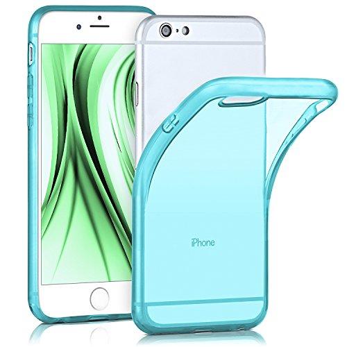 iPhone 6S Hülle Silikon Transparent [OneFlow Frosted Back-Cover] Stoßfeste Schutzhülle Türkis Handy-Hülle für iPhone 6/6S Case Dünn Silikonhülle Tasche AQUA-CYAN