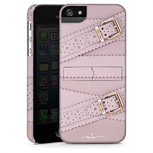 Apple iPhone X Silikon Hülle Case Schutzhülle Leder Mode Schnallen Premium Case StandUp