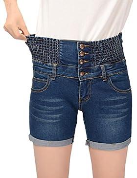 Cayuan Pantaloncini Donna Estate Pantalone Corti di Jeans Elasticità Vita Alta Denim Pantaloni Corti Jeans Corti...