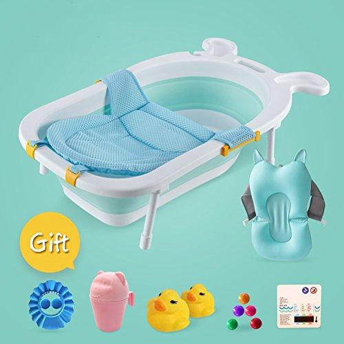 vbimlxft- Baby Badewanne Rutschfeste Matte Portable Faltbare Badewanne Komfort Faltbare Duschwanne Deluxe Neugeborenen Kleinkind-Wanne Badewanne (Farbe : G)