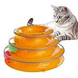 Kofun Juguete trilaminare del Juguete de trilaminar del Disco de exhibición del Disco de la Pelota del Borde Redondo Azul del Juguete del Animal doméstico del Gato Gatito