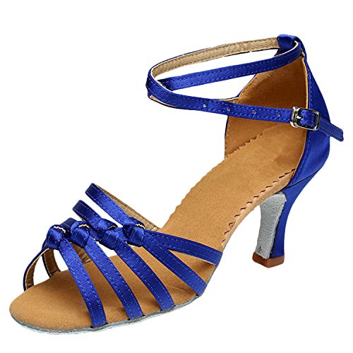 Toe Partido Cruz Cinta Dança Peep Sapatos Das Mulheres De Azul Latina Oasap wRCtqpxO