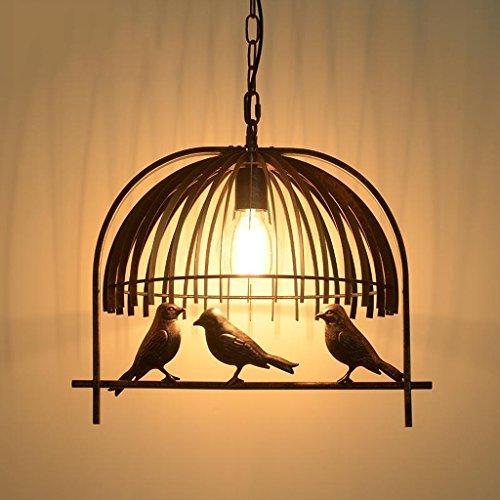 La stagione del raccolto Retro ferro Uccelli Lampadario Studio Cafe balcone Industria Chandelier -E27
