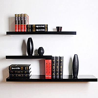 MultiWare Wall Shelves Density Board Floating Wall Display Shelves Home Storage Black produced by oem - quick delivery from UK.