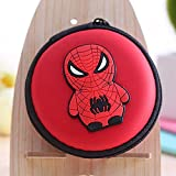 #3: Oytra BABY SPIDERMAN Earphone Pouch / Charger Pouch / Coin Pouch Round Shaped with Attractive Cartoons - Minion, Doraemon, Spiderman for Kids both Boys and Girls (Single Piece)