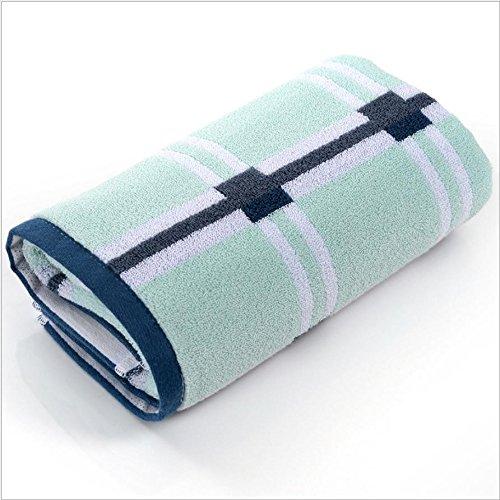 XXFFH Asciugamano Da Bagno Cotone Idrofilo Per Aumentare Il Movimento Di Allargamento Lungo Di Spessore Telo Palestra (40 * 100 Pollici) , Green