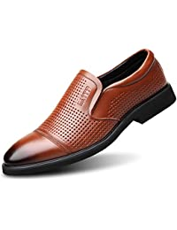 8f233db67ceb NBWE Summer New Men Business Dress Shoes Breathable Openwork Leather Sandals  Casual Men s Leather Shoes
