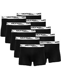 MERISH Boxer pour Homme 5/10 Packs Shorts rétro Boxer en classique Couleurs en coton avec élasthanne Modell 215