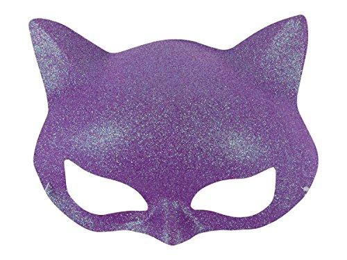 Alsino Glitzer Katzen Maske Augenmaske Party Inkognito Gesichtsmaske venezianische Maske bunt , Variante wählen:MAS-22c - Katze Maske Venezianische