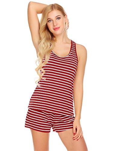 Unibelle Damen Süße kurze sexy PJ Camisole Set Pyjama Schlaf Shirt Nachtwäsche (Pj Kurze Set)
