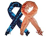 Goodluck Cotton Scarf Set of Two mullticoloured stoles; Scarf and Stoles for Women …
