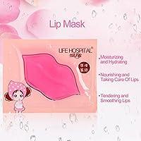 Máscara de labios, Paquete de 15 Parches de máscara de labios Cristal Colágeno Humedad Exfoliante Almohadillas para labios secos Labios más llenos