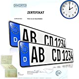 2 x EU KFZ Nummernschilder Autoschilder Kennzeichen ALLE AUTOMARKEN mit...