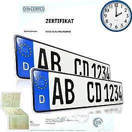 2 targhe automobilistiche EU per tutte le marche di auto, con stampa personalizzabile-