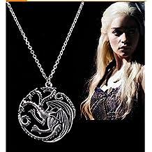 Generic Game of Thrones House Targaryen Dragon Sigil Locket/Pendant (Silver)