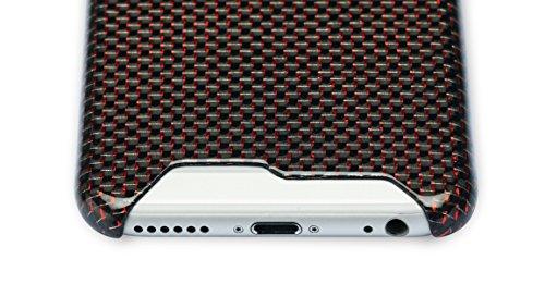 PITAKA Edizione Limitata Case di Lusso in Carbonio Lucido e Brillante Magra Compatibile Con iPhone 6 Plus (5,5 Pollici) Rubino
