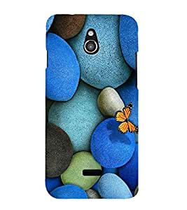 Vizagbeats Butterfly on Pebbles Back Case Cover for Infocus M2