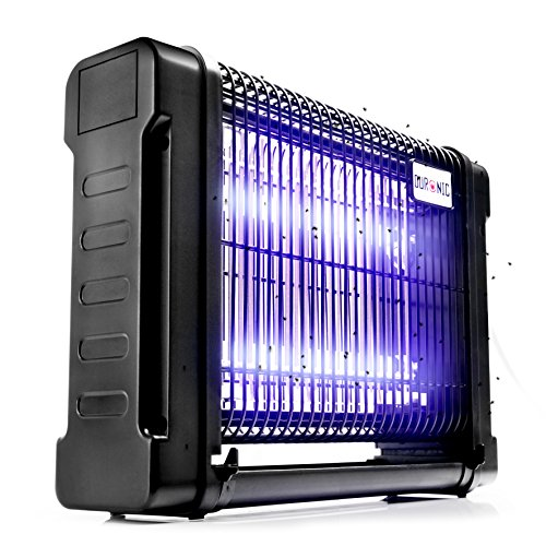 Foto de Duronic FK8416 Matamoscas / Lámpara Matainsectos Eléctrico - 2 Lámparas UV / 2 Luces Ultravioleta de 8W / Portátil o con Fijación para Pared / Seguro y Eficaz