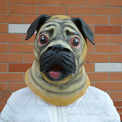 XIAO RUI Halloween Maske Latex Maske Hapi Hund Cartoon niedliche Maske Shar Pei Latex Kopf Dance Party Party Maske lustige Cosplay Requisiten Maske, Einheitsgröße (Halloween-kostüme Für 2019 Niedliche)