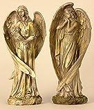 Große Figur Engel mit Flügel bis 44,5cm Antik Putte Hochzeit Taufe Geburt Weihnachten Angel Deko Gebet Gedenken