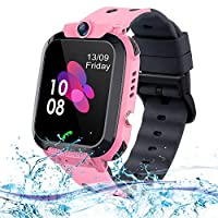 bhdlovely Kids Smart Watch Waterproof GPS Tracker Phone Watch for Children Girls Boys with SOS Call Camera Touch Screen Game Smart Watch Compatible for iOS and Android (Purple)