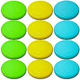 12 Farbige Frisbee Wurfscheiben & Frisbeescheiben – Auswahl an Hellen