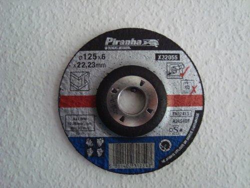 Piranha x32055-qz 125x 22x 6mm DPC Metall Schleifen Bonded Disc