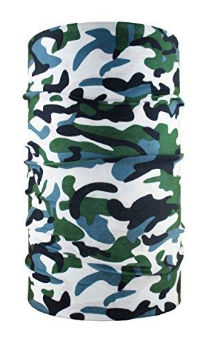 headloop Multifonction Chiffon Camouflage Vert Gris Loop Tuyau Chiffon écharpe Foulard tête en Microfibre