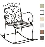 CLP Eisen-Schaukelstuhl Edith im Landhausstil I Schwingstuhl mit hoher Rückenlehne I In Verschiedenen Farben erhältlich Bronze