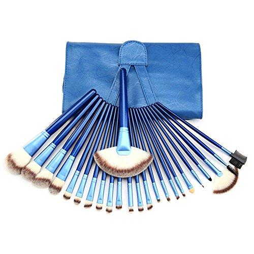 Contever® 24 Pezzi Pennelli Trucco Tools - puri Naturali Della Capra - Professionale Naturale per Ombretto Basi Trucco