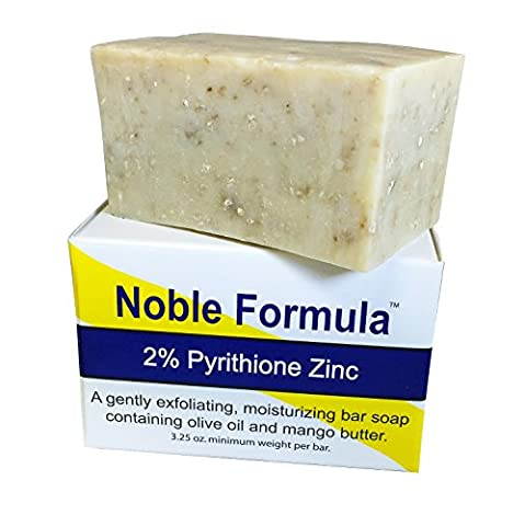 Noble Formula 2% Pyrithione Zinc Bar Soap 3.25 Oz, Mango Butter (Vegan) - Hand Crafted in the Usa, Especially Formulated for Those with Psoriasis, Eczema, Dry and Sensitive Skin by Noble Formula
