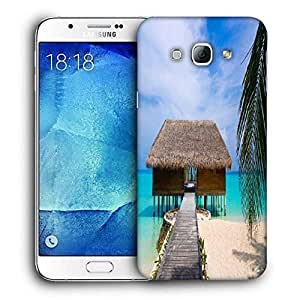 Snoogg Beach House Printed Protective Phone Back Case Cover For Samsung Galaxy Note 5
