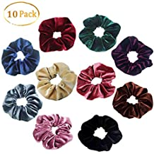 SLOSH 10 Piezas Goma de Pelo Niña Banda de Pelo Colores Niña Mujer 1f636023b191