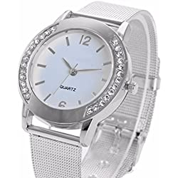 HARRYSTORE Women's Watches Crystal Rhinestone Analog Quartz Wrist Watch Sliver