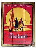 Seestern Deko Holz Wandbild im Vintage Sixties Surf Look 30 x 40 cm Surfing Motiv /1831