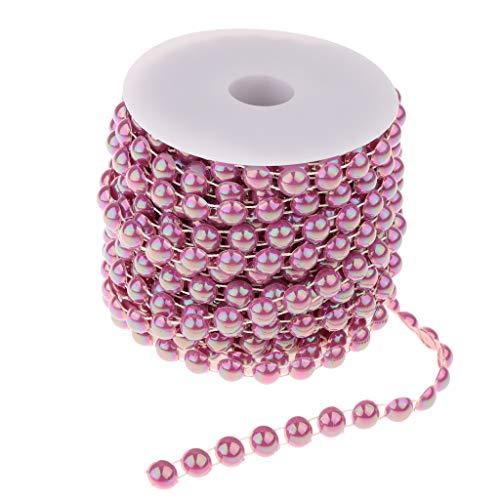 IPOTCH Chaîne Perles Demi-Cercle Perles Artificielles en ABS Accessoire Coiffure Couture de Vêtement Chapeaux Vêtement Robe de Mariée - Violet