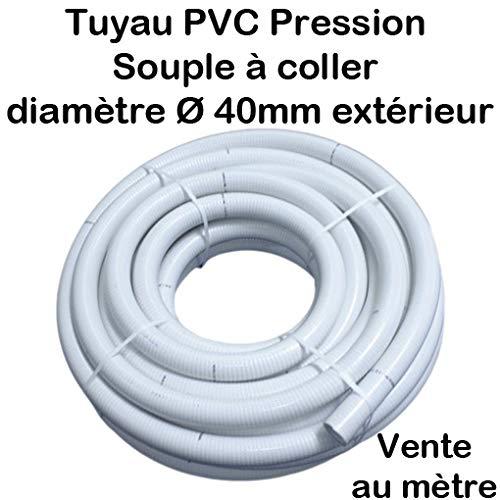 Manguera PVC presión flexible pegar Ø 40 mm diámetro/piscinas/venta