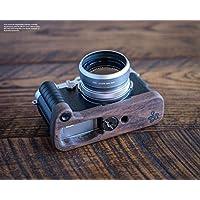 Handgefertigter Kameragriff für Fuji Fujifilm X100F   Camera Grip aus Walnuss Holz und eloxiertem Aluminium   Kamera Handgriff von J.B. Camera Designs   Farbe: Braun Töne (Holz), Schwarz (Aluminium)