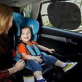 Vita Perfetta Sonnenblenden für Auto, 2 Stück - idealer Schutz gegen Blenden...