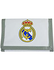 Real Madrid Football Wallet Tri-Fold Crest Cream Green Coins Money Purse Official