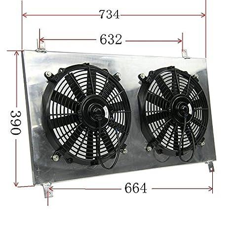 ALLOYWORKS Aluminum Radiator Shroud Fan For TOYOTA SUPRA MK4 TWIN TURBO JZA80 2JZ-GTE 1993-1998
