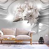 murando - Fototapete Lilien Abstrakt 350x256 cm - Vlies Tapete - Moderne Wanddeko - Design Tapete - Wandtapete - Wand Dekoration - 3D Optik b-C-0203-a-a
