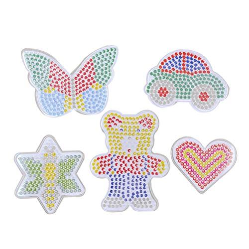 SUPVOX 5 stücke Fuse Beads Kit 3D Fuse Beads Nachfüllung Magic Beads mit DIY Card Paper Zubehör Lernspielzeug für Kinder Anfänger Activity Pack